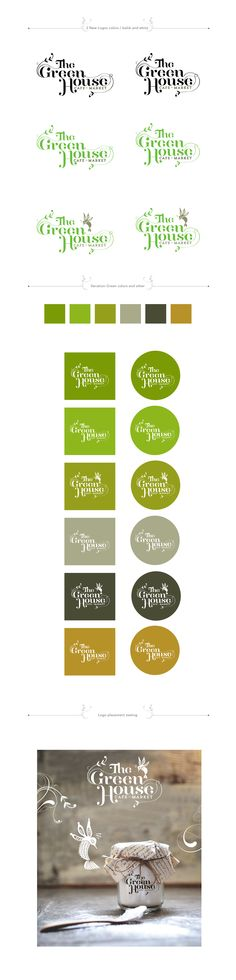 The GreenHouse Cafe Market proposed logos