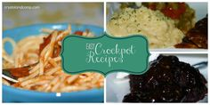 Variety of crock pot recipes.