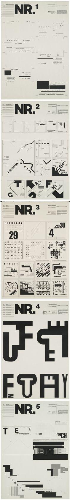 Typographic Process,  Wolfgang Weingart, 1971-72