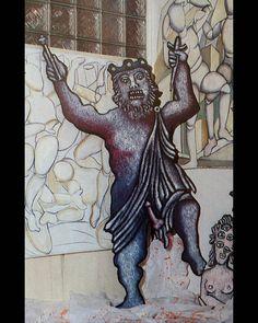 """""""Mi piace"""": 4, commenti: 2 - massimo j. monaco (@massimo.j.monaco.artist) su Instagram: """"CLAUDIUS 1986 (from the theater play Amleto il lunatico) cm 200x90x3 #enricobaj #oilpastel #acrylic…"""""""