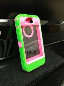 Otter box Defender For iPhone 4 Lime Green And Pink $35