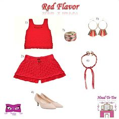 Kat Rose Fashion Head To Toe: Red Flavor