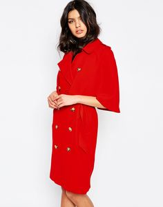 River Island - Trench-coat effet cape