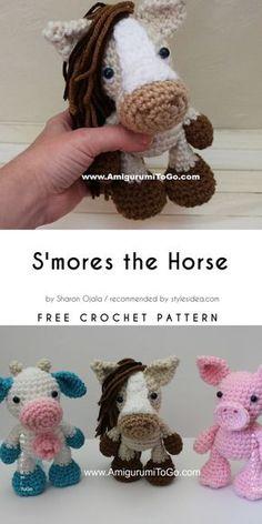 Amigurumi World Collection Free Crochet Patterns #amigurumi #freepattern #horse #dragon #wizard #teddybear #cat #dog