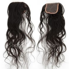 Natural Wavy Virgin Brazilian Hand Tied Free Parted