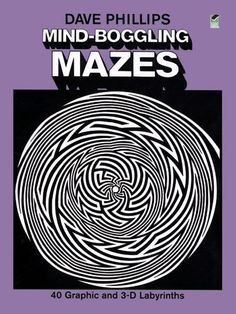 Number From Mind Boggling Mazes, Dover Publications, Kids Activity Books, Book Activities, Dover Publications, Buy Prints, Maze, Art For Sale, Online Art, Illusions, 3 D