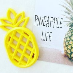 Here in the tropics we LOVE pineapples and can't wait to have these gorgeous vibrant pineapples on our shelves!! Made from silicone they're the perfect teether!