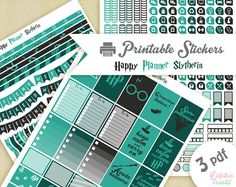 Printable stickers Harry Potter maison Serpentard | 3 pdf | Téléchargement instantané | Planner, Happy planner