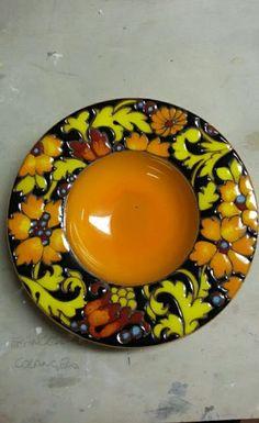 Painted Plates, Soap Holder, Acrylic Art, Handmade Pottery, Ceramic Art, Glaze, Polymer Clay, Sculpture, Pottery Ideas