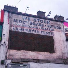 We Stock Blockboard ghost sign in Dublin