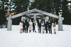 A Romantic Rustic Mountain Wedding in the Winter Snow | Anastasia Photography | See More! http://heyweddinglady.com/luxe-snowy-winter-weddin...