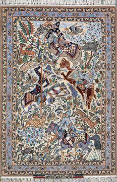 """Esfahan Persian Rug, Buy Handmade Esfahan Persian Rug 2' 9"""" x 4' 1"""", Authentic Persian Rug"""