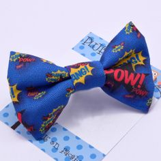 comic book bow tie - Pluff Bows Best Aunt, Fabric Bows, Boutique Bows, Bow Ties, Hair Bows, Comic Books, Comics, Hairbows, Bowties
