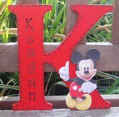 Mickey Mouse Personalised Wall Letter