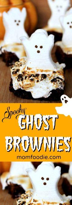 Ghost Brownies Halloween Treats - Kids will love t…