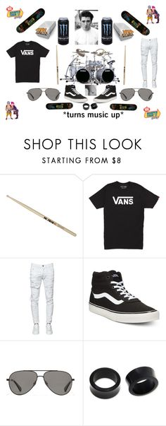 """Warped 2017: drums"" by cesca-8-rose ❤ liked on Polyvore featuring Firth, Vans, Dsquared2, Vilebrequin, NOVICA, men's fashion and menswear"
