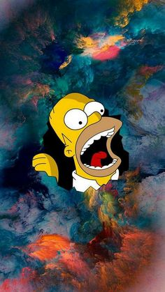 Homer Simpson wallpaper by Boby_artur - - Free on ZEDGE™ Simpson Wallpaper Iphone, Trippy Wallpaper, Cartoon Wallpaper Iphone, Apple Wallpaper, Tumblr Wallpaper, Aesthetic Iphone Wallpaper, Galaxy Wallpaper, Disney Wallpaper, Cool Wallpaper