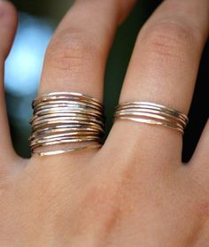 Thin stacking rings.
