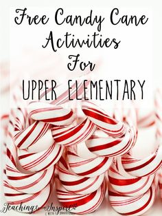 Teach Your Child to Read - Candy Cane Activities for Upper Elementary Free - Teaching to Inspire with Jennifer Findley - Give Your Child a Head Start, and.Pave the Way for a Bright, Successful Future. Christmas Activities, Stem Activities, Classroom Activities, Classroom Ideas, Holiday Classrooms, Preschool Bulletin, Christmas Maths, Winter Activities, Teamwork Activities