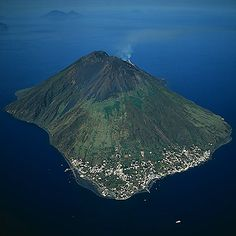 Stromboli rises 900m above sea level. Two-thirds of the volcano's 3000m high mass is under the sea. It's ever-active craters are situated a little beneath its peak. There are two small villages nestled at its foot along the coastline.