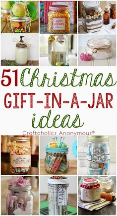DIY IDEAS: 51 Christmas Gift in a Jar Ideas