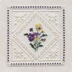 hardanger patterns free | Here is the doily in all of it's ...