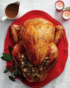 Roast Turkey with Nut Stuffing.