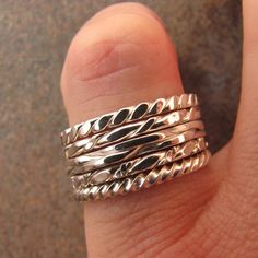 Silver Stacking Ring Number 12 by DogsKinJewelry on Etsy, $17.00