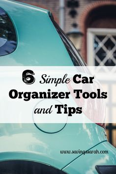 Would you love to find ways to tame the clutter and chaos in your vehicle? Here are 6 Simple Car Organizer Tools and Tips to help.
