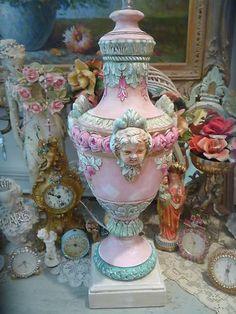 Cherub lamp & vintage rhinestone clocks