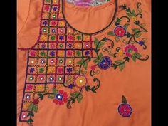 Hand Embroidery: New Dorri design/New cut design Embroidery Suits Design, Flower Embroidery Designs, Embroidery Monogram, Crochet Flower Patterns, Embroidery Patterns Free, Silk Ribbon Embroidery, Indian Embroidery, Hand Embroidery Videos, Learn Embroidery