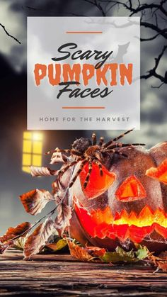 What's Halloween without some really great scary pumpkin faces!? Here are 45+ different ideas for frighteningly spooky Jack O'Lanterns, from evil-grin carving templates to prop-filled diabolical pumpkin creatures. Let's look at this big gallery of scary pumpkin faces to get some Jack O'Lantern carving ideas!