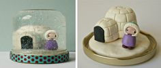 another picture of a homemade snowglobe, this time using clay figures.  So cute!!!!
