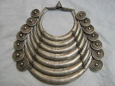 China | A silver necklace from the Miao people from Guizhou | ca. late 20th ~ early 21st century. | Silver alloy over base metal ~ 1.3kgs