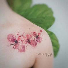 Watercolor Orchid Flowers by gnotattoo