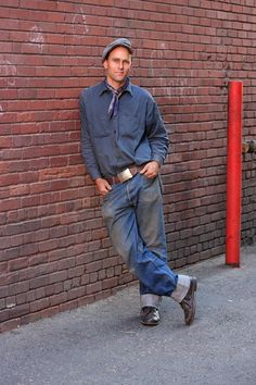 this guy has the vintage working man style down perfect all the right ...