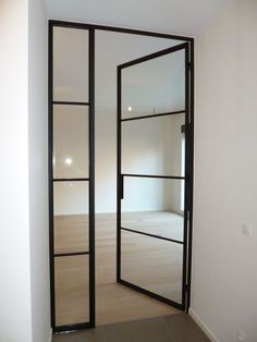 full height floor to ceiling glass doors.