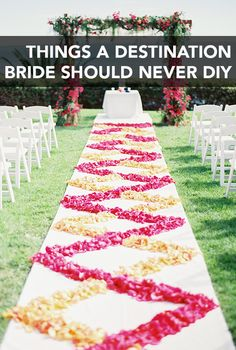 When you're getting married far from home, some things are better left to the pros #DIY | Brides.com