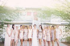 Very Cool Palm Springs Wedding At The Iconic Ace Hotel - Weddbook Wedding Planning Inspiration, Bridesmaid Inspiration, Wedding Photography Inspiration, Bridesmaid Ideas, Bridesmaids And Groomsmen, Wedding Bridesmaids, Wedding Dresses, Wedding Bible, Wedding Blog