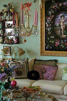 Boho Parisian Style: Jan Dolphin Designs Inc Bohemian Interior, Bohemian Decor, Bohemian Gypsy, Style At Home, Estilo Kitsch, Sweet Home, Interior Decorating, Interior Design, Bohemian Living