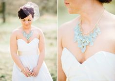 Casual look. white dress with seaglass jewelry. Janay Andrews wedding dress | photo by Anna Jaye | 100 Layer Cake