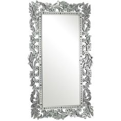 Reede Venetian Floor Mirror (83.130 RUB) ❤ liked on Polyvore featuring home, home decor, mirrors, scroll mirror, etched glass mirror, venetian style mirror, venetian mirror and floral mirror