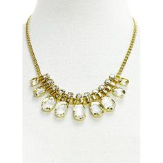 Antiqued Gold Collar Gemstone Necklace $35 #Necklace #FasionJewelry #Jewelry #Gemstones