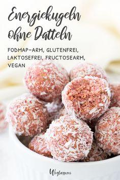 Vegan Snacks, Healthy Snacks, Healthy Recipes, Vegan Energy Balls, Happy Fruit, Clean Eating Desserts, Vegan Baking, Superfood, Delicious Desserts