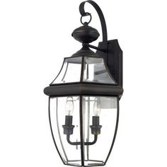 Filament Design Delaney 2-Light Medici Bronze Outdoor Wall Lantern with Beveled Clear Glass-TST2907C1 - The Home Depot