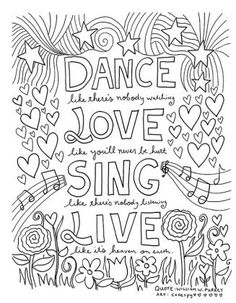 Quote Coloring Pages Idea free coloring book pages for grown ups inspiring quotes Quote Coloring Pages. Here is Quote Coloring Pages Idea for you. Quote Coloring Pages free printable adult coloring book page from color me. Quote Coloring Pages, Free Coloring Pages, Coloring Books, Coloring Sheets, Dance Coloring Pages, Fairy Coloring, Coloring Pages For Grown Ups, Printable Adult Coloring Pages, Colouring Pages For Adults