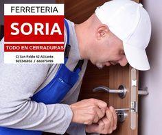 FERRETERIA SORIA. Tu ferretería de barrio. Abrimos reparamos e instalamos todo tipo de cerraduras. Desde 1982 realizando servicios de cerrajería de total confianza para nuestros clientes.