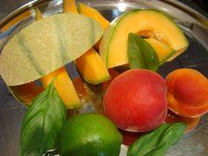 Apricot Basil Lime Melon Smoothie