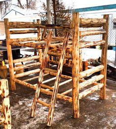 Montana Lodge rustic log bunk bed