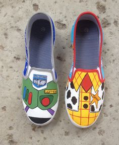 Toy Story Buzz and Woody Shoes by ColorfulCreations24 on Etsy, $30.00